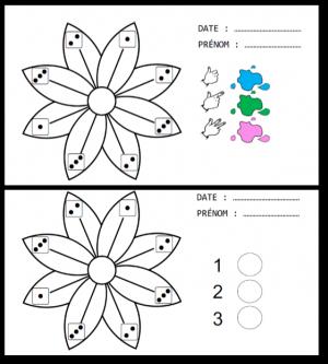 Numération : coloriages magiques printaniers